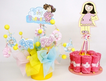decoraciones para baby shower. Centros para Baby Shower